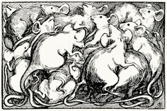 The mice were near treading each other to death. Helen Stratton, from The fairy tales of Hans Christian Andersen, Philadelphia, circa 1899. (Source: archive.org)