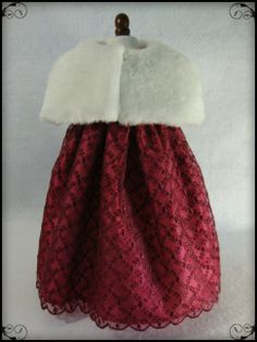 Holiday dress and faux fur cape