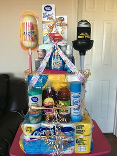 """A """"cake"""" Made From Cleaning Supplies — Great T For Someone"""