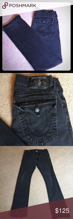 Men's True Religion jeans Pre-loved men's black jeans. Still a lot of life left. Awesome jeans. True Religion Jeans Straight