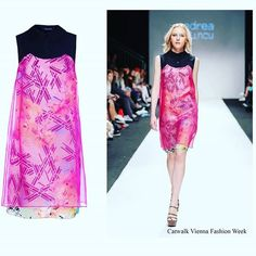 Pink on print www.andreatincu.com #andreatincu #silkdress #printedskirt #fashiondesigner #lovetrends #catwalk #viennafashionweek #summercollection #topmodel #lovemyjob #instagood