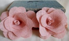 Coral Pink Wedding Burlap Flowers Table Decoration Decor Shabby Chic Rustic Fall Autumn Barn Wedding Decoration
