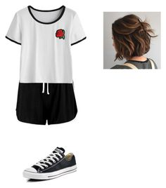 """""""Untitled #272"""" by aj-mounger ❤ liked on Polyvore featuring Boohoo and Converse"""