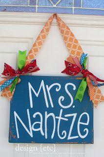 cute teacher sign