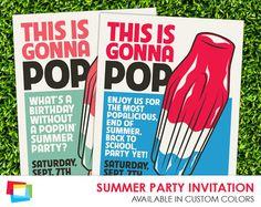 Summer Party Invitation 5x7 by Printvitation on Etsy, $10.00