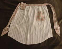 upcycled t shirt ideas | Upcycled Apron made from Men's Dress Shirts by DontBlameTheBacon