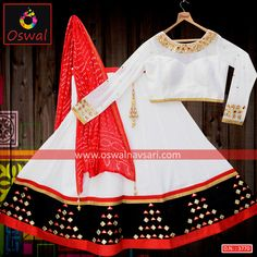 A beautiful navratri outfit. Classic colour combination