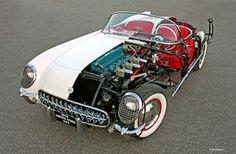 1953 'CUTAWAY' CORVETTE OFFERS A UNIQUE LOOK INSIDE THE HISTORIC SPORTS CAR