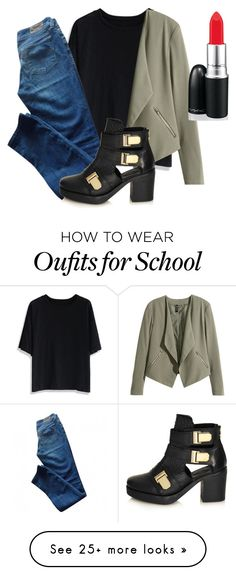 """School"" by uniquelaila1 on Polyvore featuring Chicwish, H&M, Levi's and Topshop"