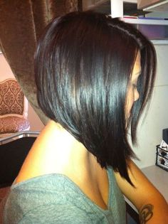 sleek angled bob back - Google Search