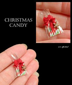 Luxury Christmas Peppermint Candy Canes - Artisan fully Handmade Miniature in 12th scale. From After Dark miniatures.