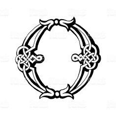 Celtic Letra O vetor e ilustração royalty-free royalty-free