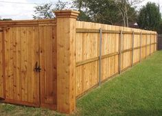 Wood Fence - Privacy Fence OHHHH how i wish i could do this around my entire property!!!!!!!!