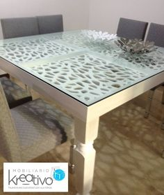 Comedor con Calados Dining Table, Furniture, Home Decor, Dining Room, Sculptures, Mesas, Wood, Homemade Home Decor, Dinning Table Set