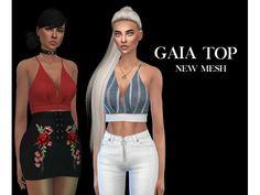 The Sims 4 Gaia Top by Leosims