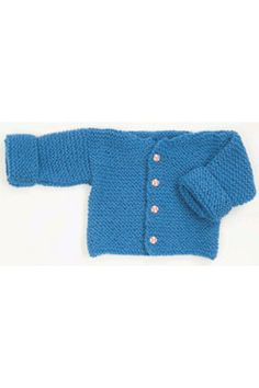 Free PDF Pattern - Very Easy Garter Stitch Baby Cardigan