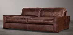 RH's Maxwell:Restoration Hardware features a wonderful selection of leather sofas created with a devotion to comfort and cush.  We feature a variety leather sleeper sofas and leather sectional sofas that are guaranteed to  provide you with comfort beyond compare.
