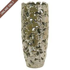 """Ginkgo Cutwork Vase, 19"""""""