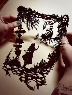 Image of Papercut DIY Design Template sheets) - 'Cheshire Cat' Wonderland Inspired and like OMG! get some yourself some pawtastic adorable cat apparel! Alice In Wonderland Party, Adventures In Wonderland, Alice In Wonderland Silhouette, Kirigami, Paper Cutting, Cat Alice, Diy Design, Paper Art, Paper Crafts