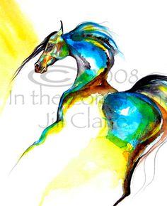 Arabian Horse Art Painting Print Jill Claire by JillClaireArt, $26.00