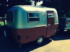 Silver red boler trailer.