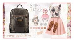 """""""Ronika Daybag by Radnik"""" by radnikbags ❤ liked on Polyvore featuring Marc Jacobs, Billabong, Ted Baker, River Island, Deborah Lippmann and Bobbi Brown Cosmetics"""