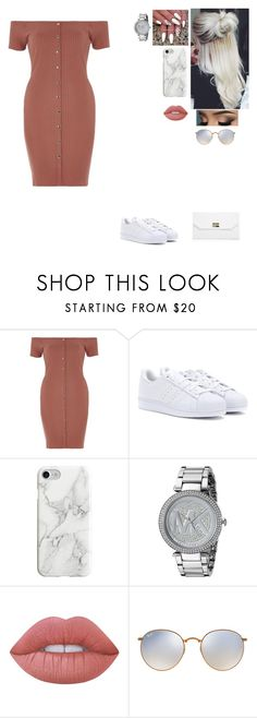 """Untitled #380"" by becca-penguin on Polyvore featuring River Island, adidas, Recover, Michael Kors, Lime Crime, Ray-Ban and Boohoo"