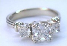 Ring I had custom made by Michael E from The Gem Shoppe, see the prongs are made into hearts