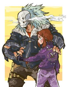 So I need an AU where Gunhead is Ochako's uncle. Nuff said. Badass babes.