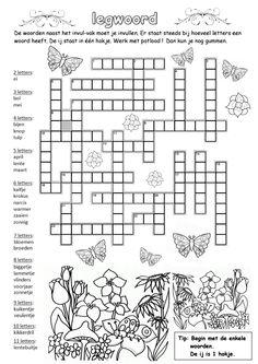 Legwoord [werkboekjes.yurls.net] Kindergarten Activities, Classroom Activities, Fun Activities, Centers First Grade, First Grade Sight Words, Compound Words, Word Puzzles, Spring Theme, Word Games