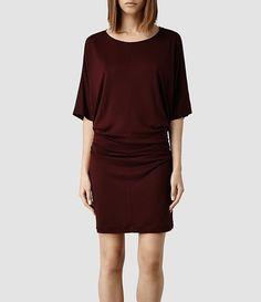 Womens Darcy Dress (Rust Marl) - ALLSAINTS