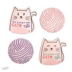 Porta copos gatos  $29.90