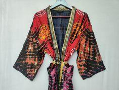 Cotton Kimono, Cotton Saree, Cotton Jacket, Silk Sarees, Boho Kimono, Kimono Dress, Bridal Party Robes, Bridesmaid Robes, Pajama Set
