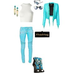 Untitled #46 by atlienfashioned on Polyvore featuring polyvore, fashion, style, Versace, Balmain, Giuseppe Zanotti, Edie Parker and Christian Dior
