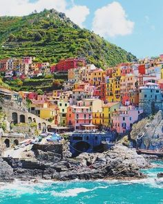 Plan your next escape to the postcard perfect village of Cinque Terre. #WanderlustWednesday #Italy