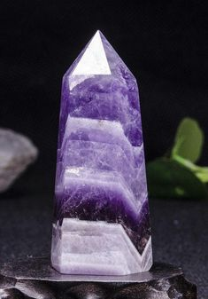 This listing is for Chevron Banded Amethyst Tower. Gemstone: Amethyst Shape: Ball Size(mm): weight(g): Quantity: 1 point Color:purple Amethyst Quartz, Quartz Crystal, Towers, Lava Lamp, Chevron, Band, Gemstones, Crystals, Purple
