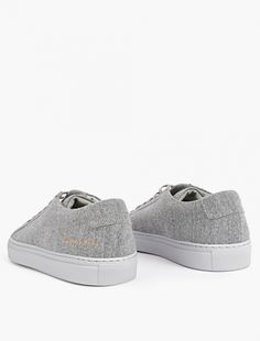 Common Projects,Grey Wool Achilles Sneakers,GREY,2
