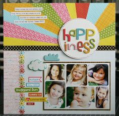 Adore this fun & colorful layout by Laura Vegas