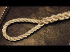 Easy To Follow - How To Tie An Eye Splice In 3 Strand Rope - YouTube