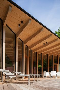Post and beam construction for main floor commercial spaces Timber Architecture, Timber Buildings, Tropical Architecture, Pavilion Architecture, Sustainable Architecture, Architecture Design, Residential Architecture, Contemporary Architecture, Landscape Architecture