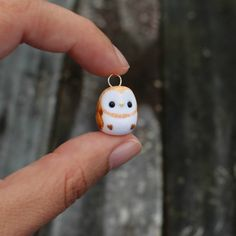 Barn Owlet Charm Necklace by TheLittleMew on Etsy