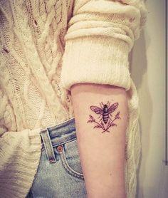 Bee tattoo More #TattooIdeasForMoms