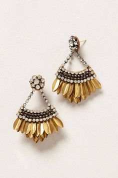*boho metallic fringe earrings