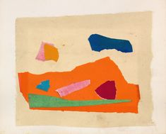 Available for sale from Jerald Melberg Gallery, Esteban Vicente, UNTITLED (ca. Collage on Paper, 6 × 8 in Willem De Kooning, Colorful Abstract Art, Thing 1, Jackson Pollock, Geometric Shapes, Home Art, Vivid Colors, Modern Art, Artsy