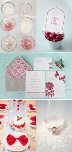 Holiday Photo Shoot by Simply Bloom Photography-  love the bow tie napkins