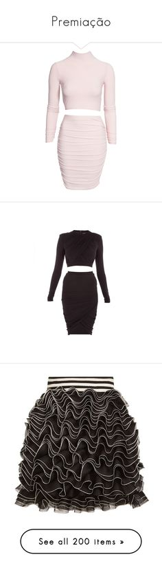 """""""Premiação"""" by yaseumin ❤ liked on Polyvore featuring dresses, skirts, two piece, party dress, nude, womens-fashion, long sleeve turtleneck, long-sleeve turtleneck dresses, long sleeve turtleneck top and two-piece dresses"""