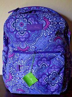 bbedac8cd1 Vera Bradley Lilac Tapestry Lighten Up Grande Laptop Backpack Purple NEW   VeraBradley  Backpack Laptop