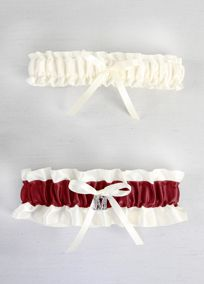 DB Exclusive Crystal Monogram Garter Set, Style DB01040BG #davisdbridal #redweddings #garter