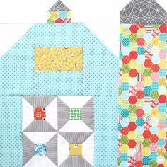 """Silo Barn 5 Bee In My Bonnet: The Quilty Barn Along.Silo Barn 5 and a """"Cool Threads"""" block Tutorial! House Quilt Patterns, House Quilt Block, House Quilts, Quilt Block Patterns, Pattern Blocks, Quilt Blocks, Quilting Tutorials, Quilting Projects, Quilting Designs"""