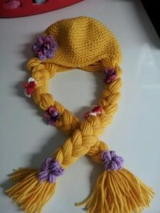 tangled- crochet hair